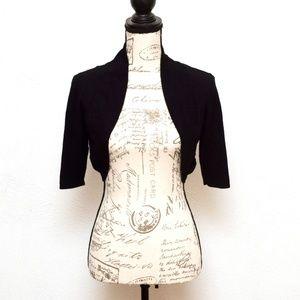 Maurices Bolero Cardigan Sweater Womens Sz M Black